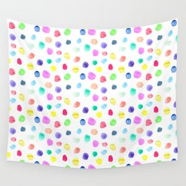 Watercolor confetti Wall Tapestry