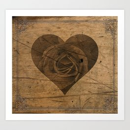 The Heart of the Rose Art Print