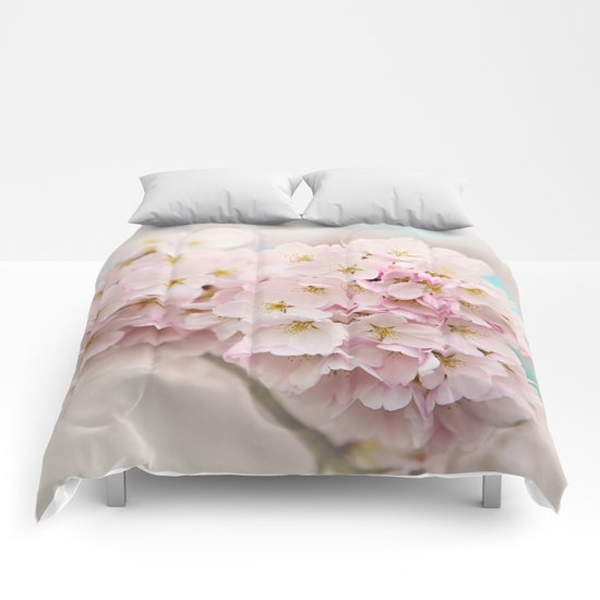 pastel beauty- In memory of Makenzie Comforters
