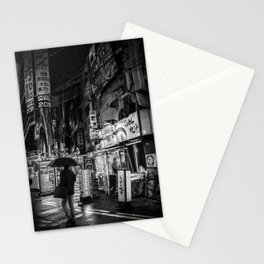 Fine Art Photography Tokyo Streets Black and White Stationery Cards
