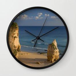 Praia da Rocha rock, Algarve, Portugal Wall Clock