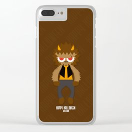 Happy Halloween Wolfman Clear iPhone Case