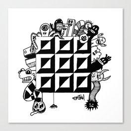 Monster bunch Canvas Print