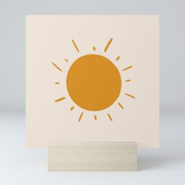 painted sun Mini Art Print