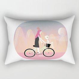 girl on wheels Rectangular Pillow