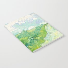Green Wheat Fields - Auvers, by Vincent van Gogh Notebook