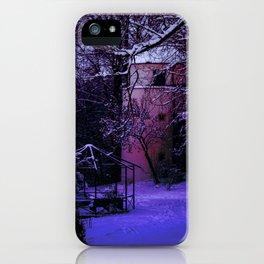 Concept Baden-Wurttemberg : Winter scenery castle park Laupheim iPhone Case