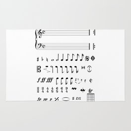 Musical Notation Rug