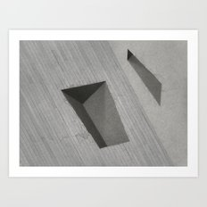 Subtracted Cube Art Print
