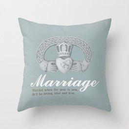 Marriage January Throw Pillow