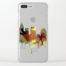 Atlanta, Georgia Skyline - SG - Safari Buff Clear iPhone Case