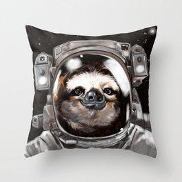 Astronaut Sloth Selfie Throw Pillow