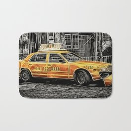 Yellow Taxi Cab Bath Mat