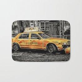 Yellow Taxi Cab Bath Mat