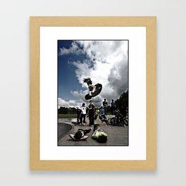CRAZY BLADER! Framed Art Print
