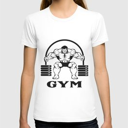 Bodybuilder with barbell T-shirt