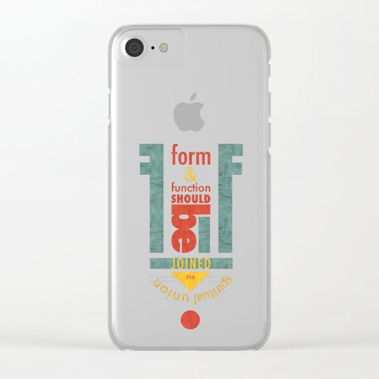 Form & Function Clear iPhone Case