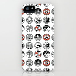 top pattern iPhone Case