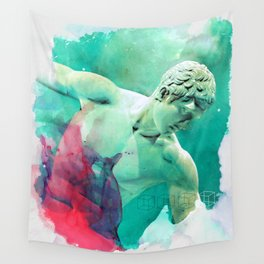 The Discobolus of Myron Wall Tapestry