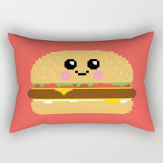 Happy Pixel Hamburger Rectangular Pillow