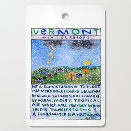 Vermont Weather Report Cutting Board