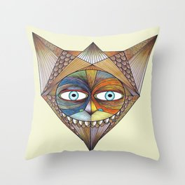 Parted and Feathered Throw Pillow
