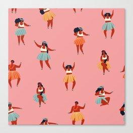 Hula dancers Canvas Print
