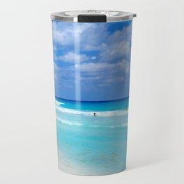 Cancun beach Travel Mug