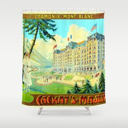 Chamonix-Mont-Blanc - Cachat's Majestic Shower Curtain