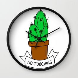 No touching cactus Wall Clock