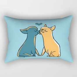 Chihuahua Kisses Rectangular Pillow