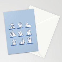 Maltese Yoga Stationery Cards