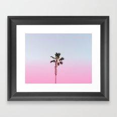 Pink Palm Framed Art Print
