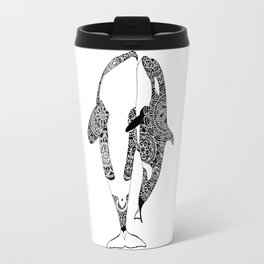Cuddling Orcas Travel Mug