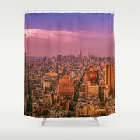 nyc Shower Curtains featuring NYC by Vivienne Gucwa