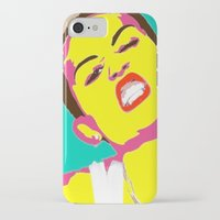 miley cyrus iPhone & iPod Cases featuring Miley Cyrus by Becky Rosen