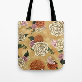 Gold luxury floral Tote Bag
