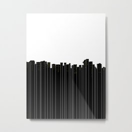 Vancouver City Skyline Metal Print