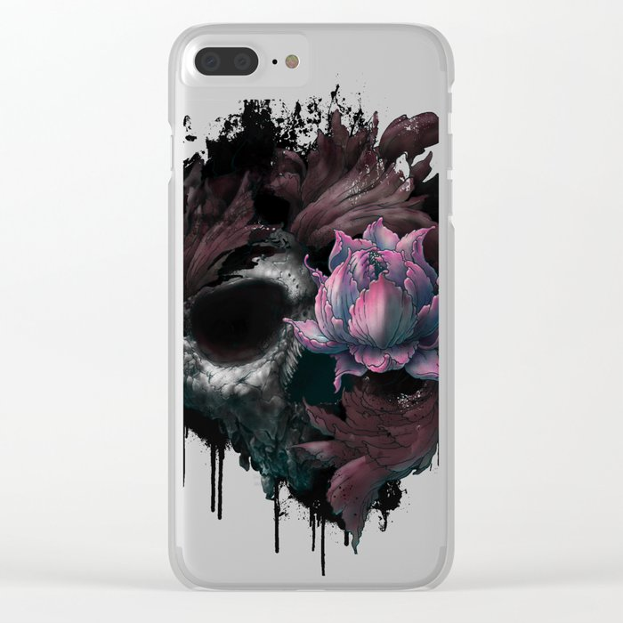 Death Blooms Clear iPhone Case