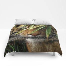 Tiger - Emerald Forest Comforters