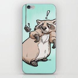Yoikes! Raccoon Meets Spider iPhone Skin