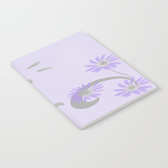 Floral Scroll Design - Purple and Lavender Notebook