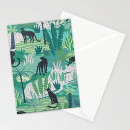 Panthers In Jungle Pattern Stationery Cards