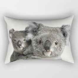 Koala Print, Australian Animal, Nursery Wall Art Decor, Koala Bear Rectangular Pillow