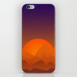 Slumbering Hills, Southwestern Landscape Art iPhone Skin