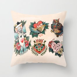 Tattoos of Love Throw Pillow