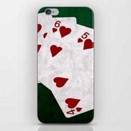 Poker Straight Flush Hearts iPhone Skin