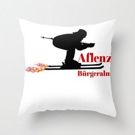 Ski speeding at Aflenz Bürgeralm (Aflenz Buergeralm) Throw Pillow