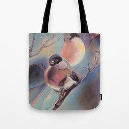 Winter birds, pastel Tote Bag