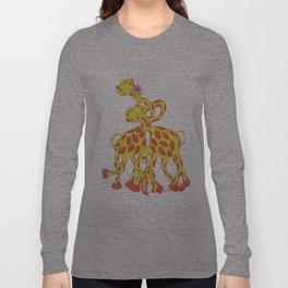 Animals - Giraffes Wanna Love Long Sleeve T-shirt